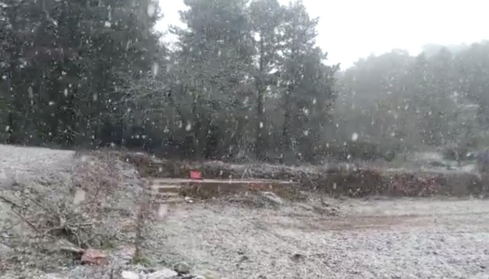 Neva al Tossal de la Baltasana
