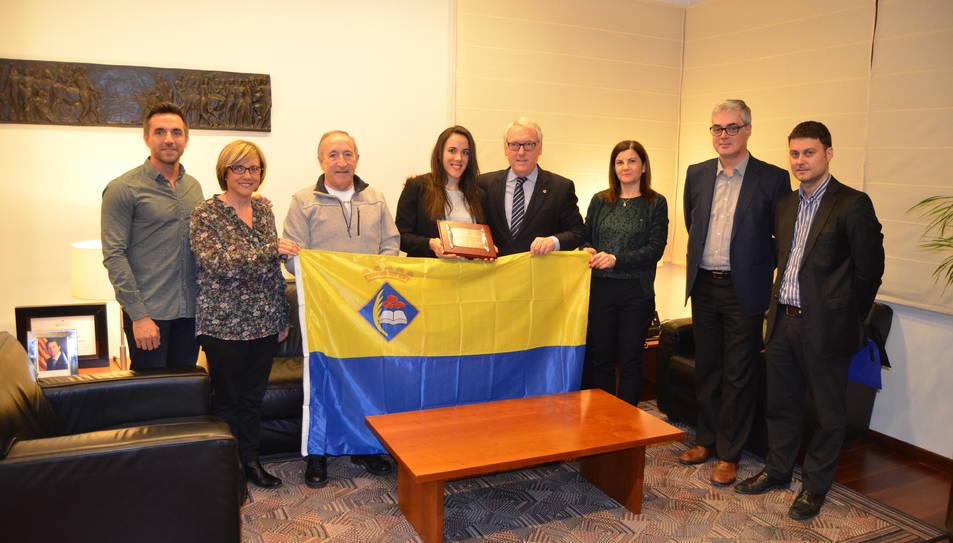Reconeixement de Vila-seca a Helena Casas, primera atleta olímpica local