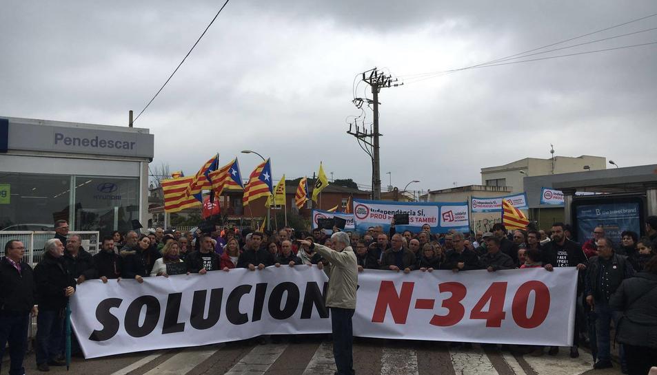 Durant el matí, s'han celebrat manifestacions a la N-340.