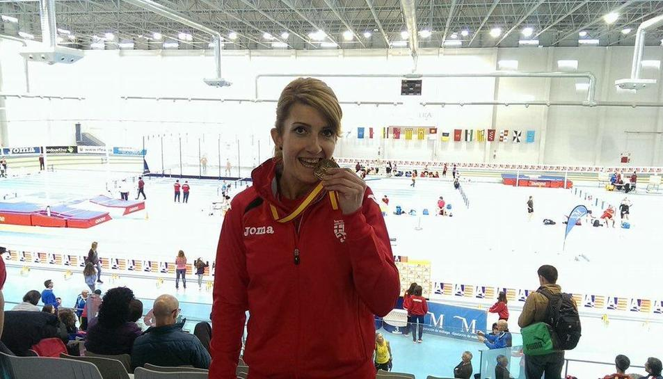 L'atleta Maria José Carabante, campiona d'Espanya de 400m pista coberta