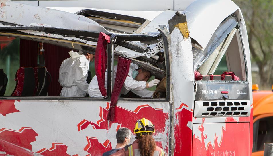 El conductor de l'autocar no podrà declarar avui dilluns per una contusió pulmonar