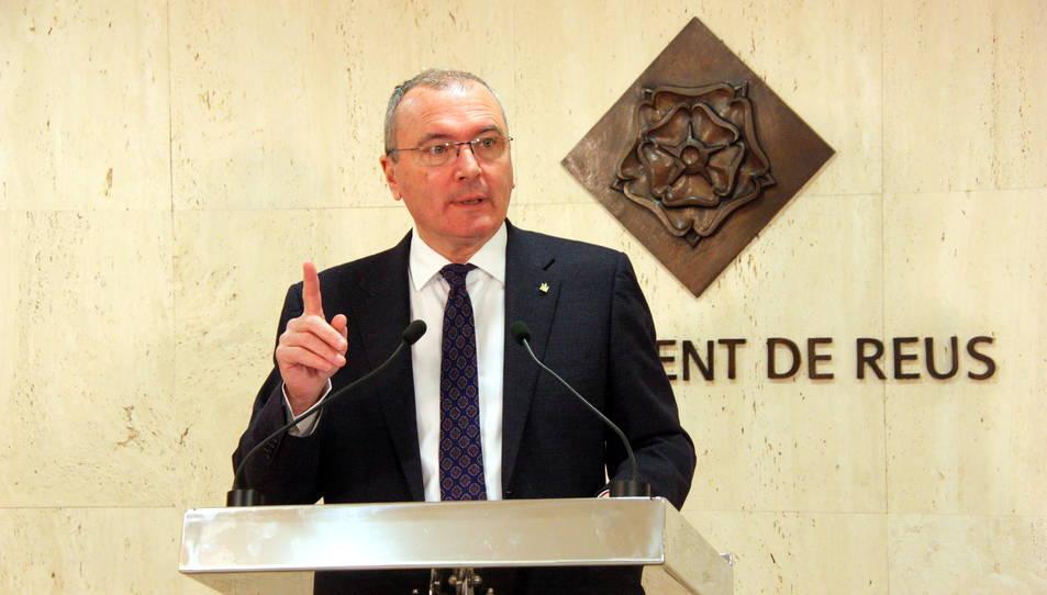 Pellicer ajorna la conferència 'Reus, una il·lusió compartida' en motiu de l'accident de Freginals