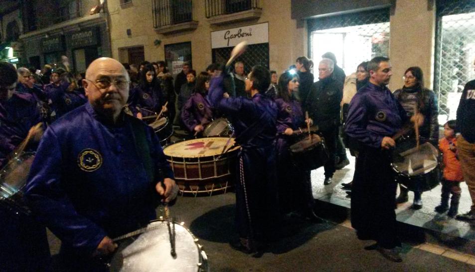 El so dels timbals de Calanda torna a retronar per obrir la Setmana Santa