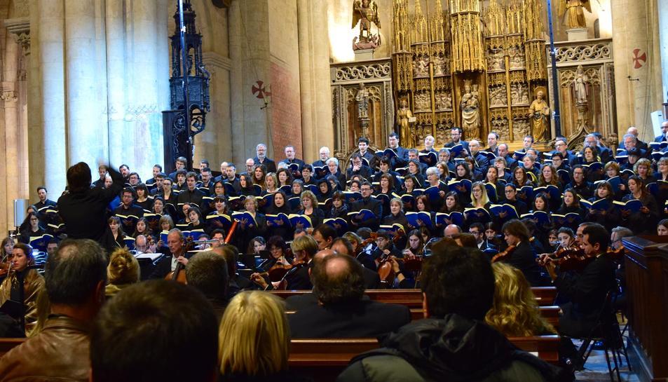 Concert de Setmana Santa a Tarragona amb la interpretació de la Passió segons Sant Mateu de J.S. Bach a càrrec de la Simfònica del Vallès acompanyada del Cor Ciutat de Tarragona.