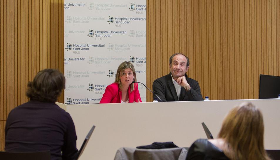 La presidenta de l'hospital, Noemí Llauradó, i el director general de Sagessa, Jordi Colomer, van donar a conèixer ahir els números.