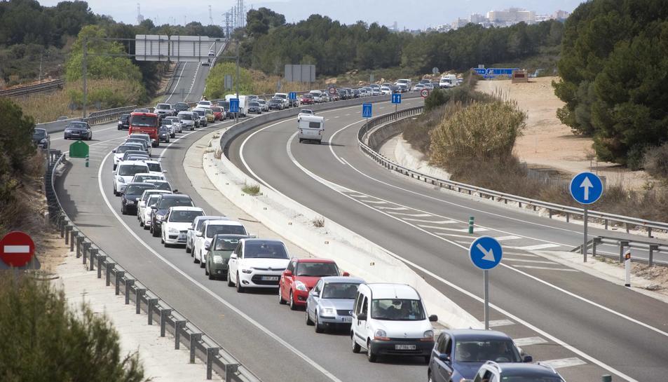 Imatge de les carreteres catalanes durant l'operació tornada de Setmana Santa.