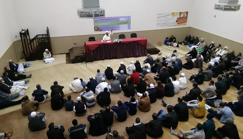 Una imatge de l'interior de la mesquita, durant la celebració d'un dels congressos que aquesta acull.