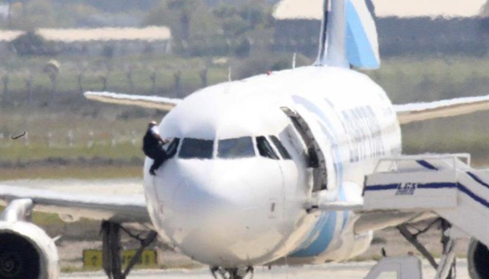 Imatge de l'avió segrestat.