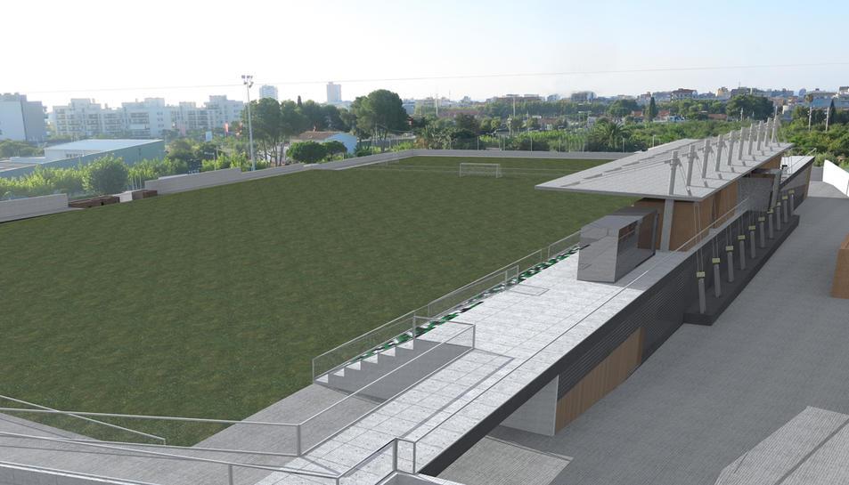 S'aprova la remodelació del camp de futbol de Calafell per 305.000 euros
