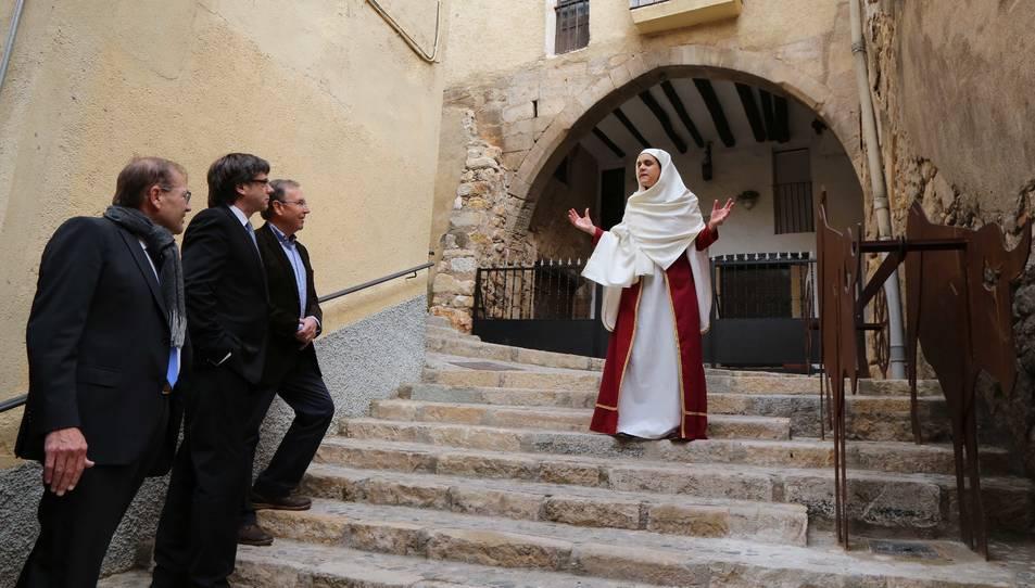Puigdemont inaugura la Ruta Templera i Hospitalera, que aposta per la realitat augmentada