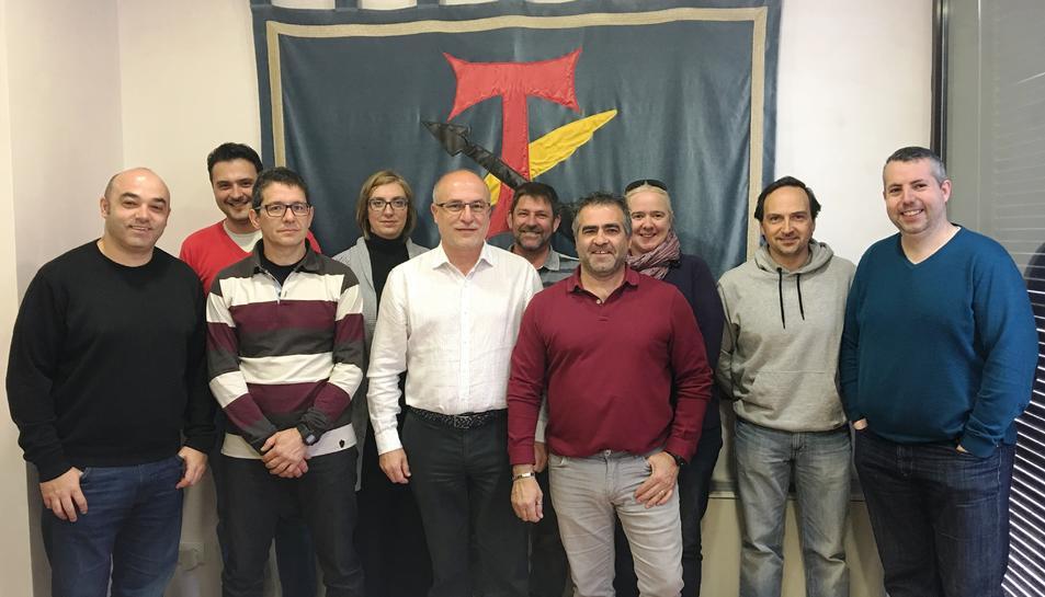El comitè d'empresa de Bic Graphic va reunir-se, el passat divendres, amb l'alcalde de la Canonja, Roc Muñoz.