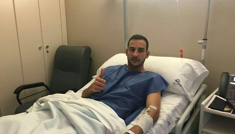 El davanter Jaime Vidal, operat amb èxit del menisc