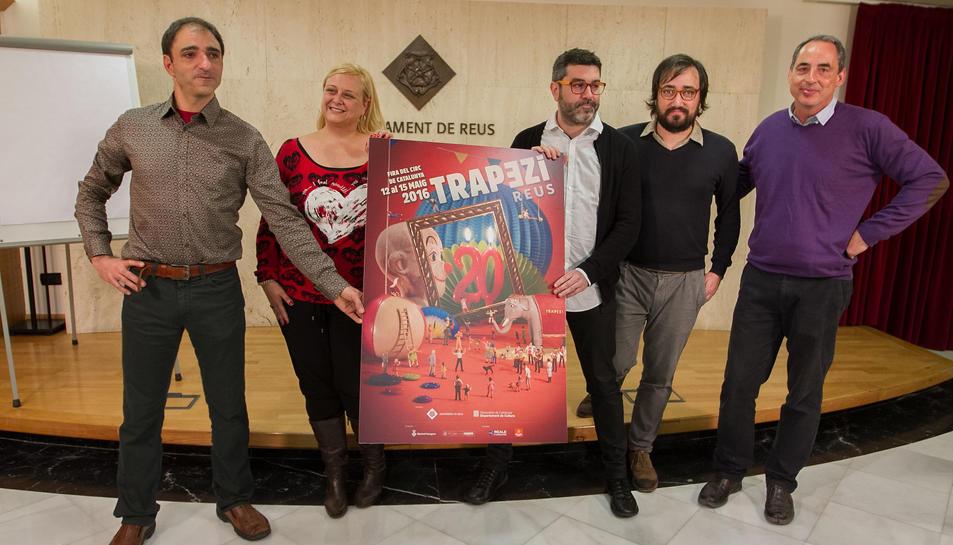 El cartell anunciador del Trapezi d'enguany es va presentar ahir.