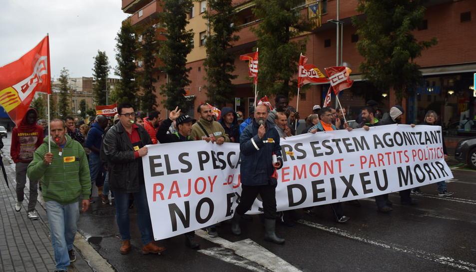 Manifestación de los pescadores de Peix Blau