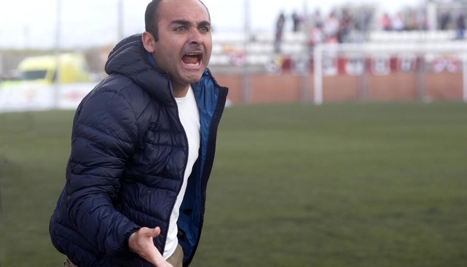 Martín Posse, durant el partit del passat diumenge, contra L'Hospitalet a la Pobla.