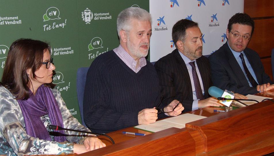 El Vendrell firma un conveni amb MicroBank per finançar projectes empresarials