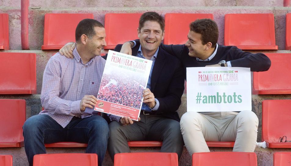 D'esquerra a dreta, el gerent, Jordi Ruiz; el director general, Lluís Fàbregas; i José Andreu, responsable de màrqueting.