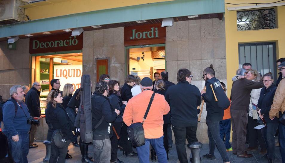 Dijous passat, durant la festa-homenatge que van fer-li al Jordi Heredia.