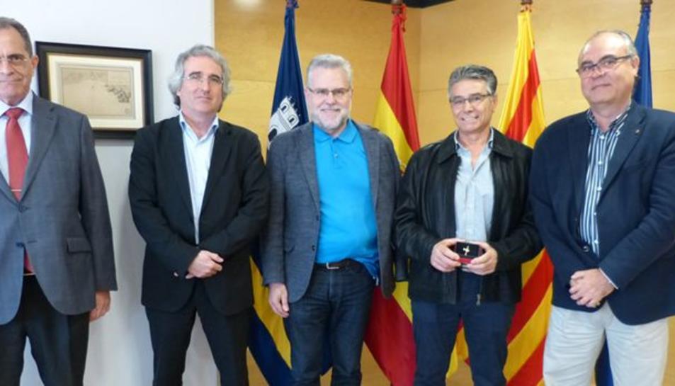 Salou homenatja a Lluis Sánchez en motiu de la seva jubilació