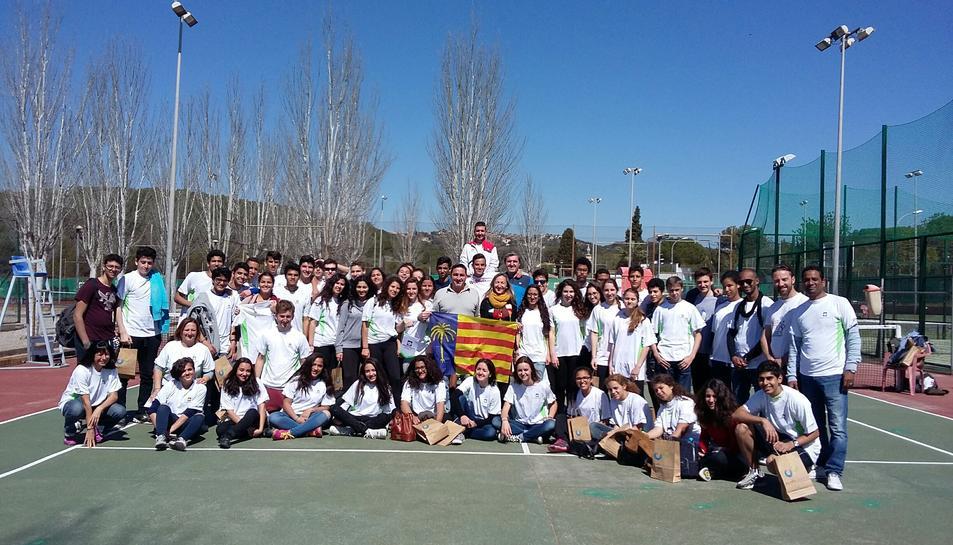 El Club Sports Tennis Cunit acull a un grup de joves procedents d'Egipte