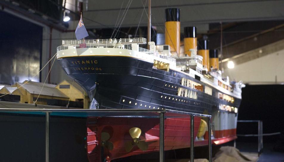 Reconstrucción del Titanic en maqueta