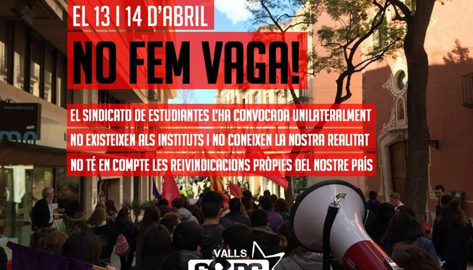 La vaga convocada pel Sindicat d'Estudiants per avui i demà no rep el recolzament del SEPC