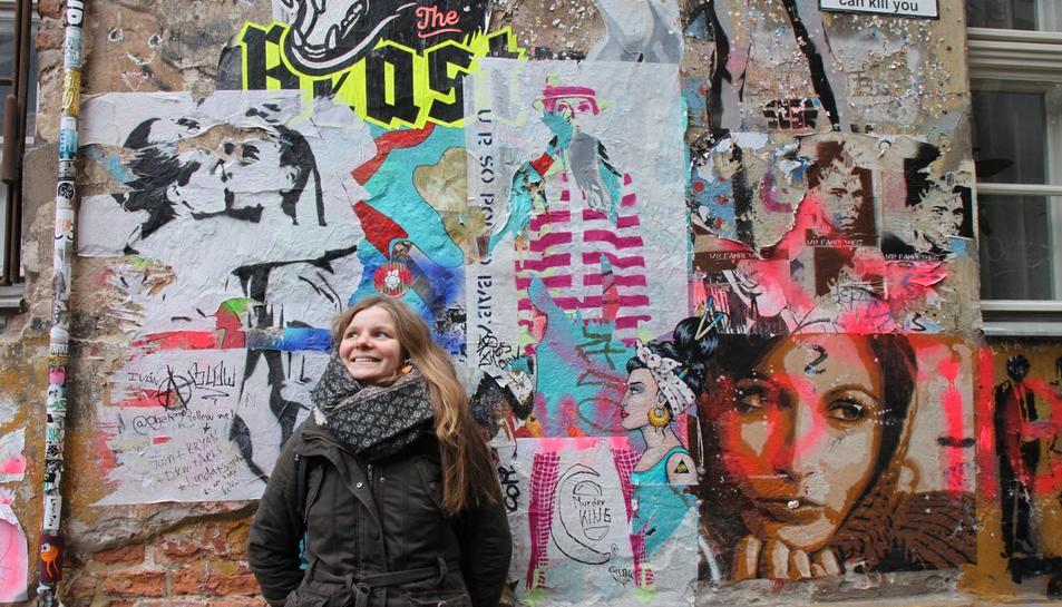 La jove reusenca ha quedat encisada amb l'art urbà i el caràcter multicultural de la ciutat.