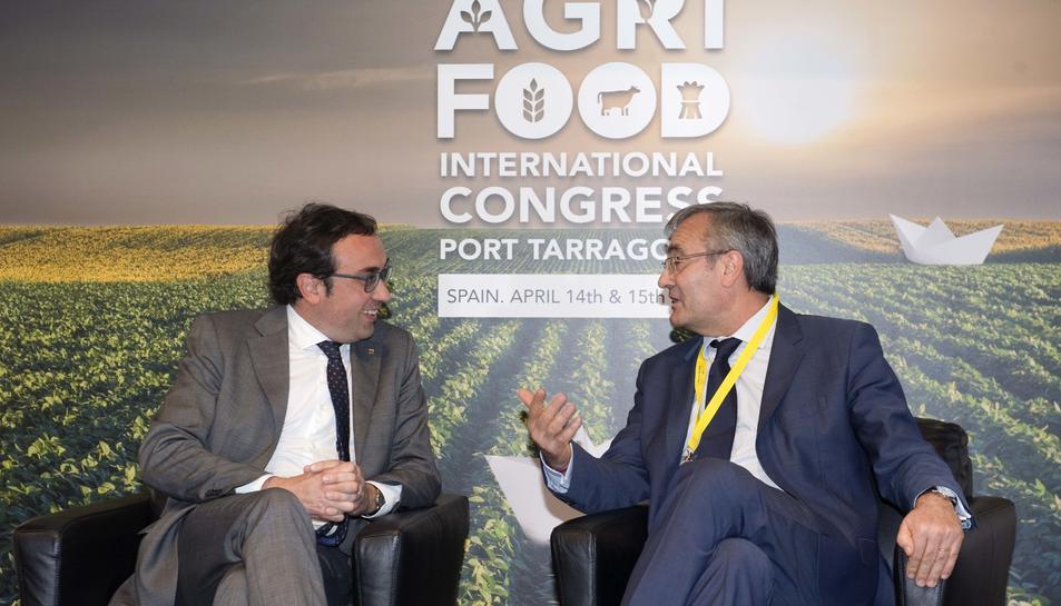 Josep Rull, conseller de Territori i Sostenibilitat i José Llorca, president de Ports de l'Estat.