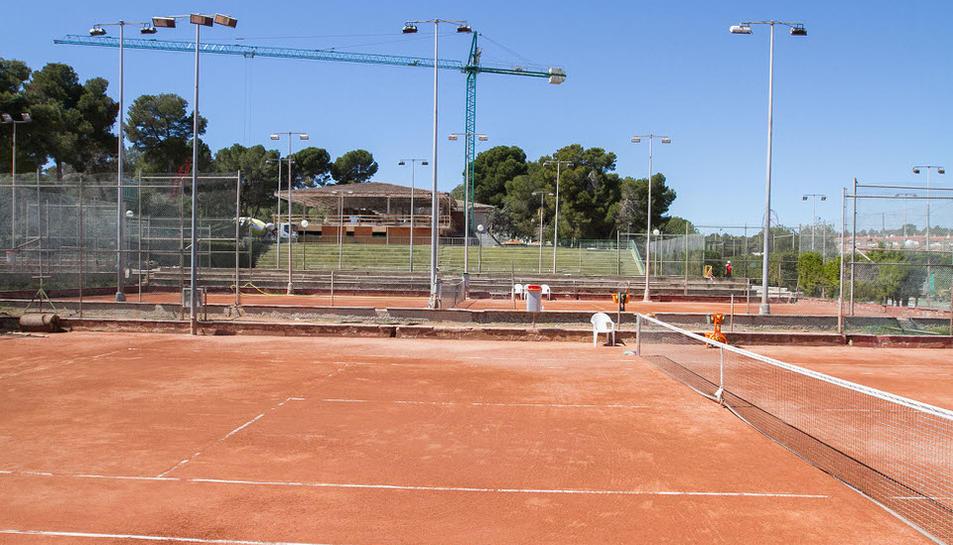 Visita en las obras del club Tenis Salou H2O