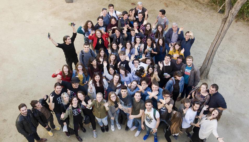 Els joves actors presenten la 23a Mostra de Teatre Jove de Tarragona.