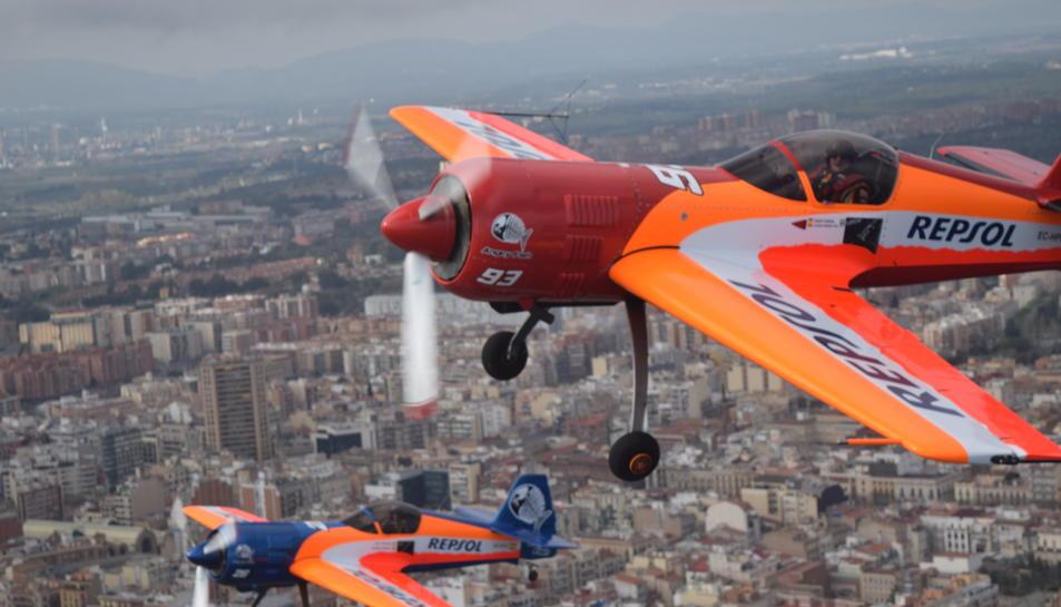 L'equip Bravo3 Repsol ha entrenat aquesta tarda a l'Aeroclub de Reus.