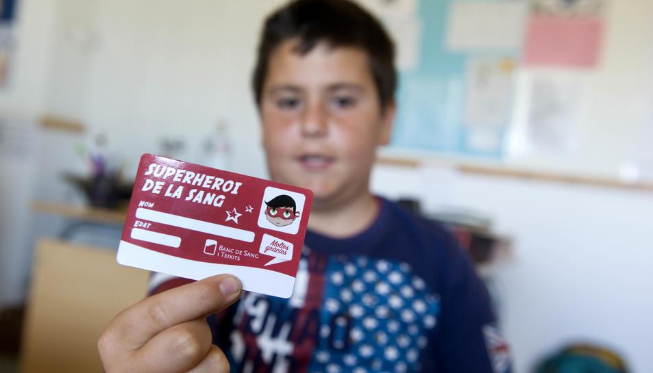 «Hola, sóc un alumne de l'escola La Canaleta. Vol venir a donar sang?»