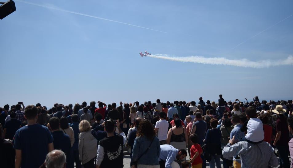 Els dos pilots han deixat sorpresos als espectadors del Balcód el Mediterrani i de la platja del Miracle.