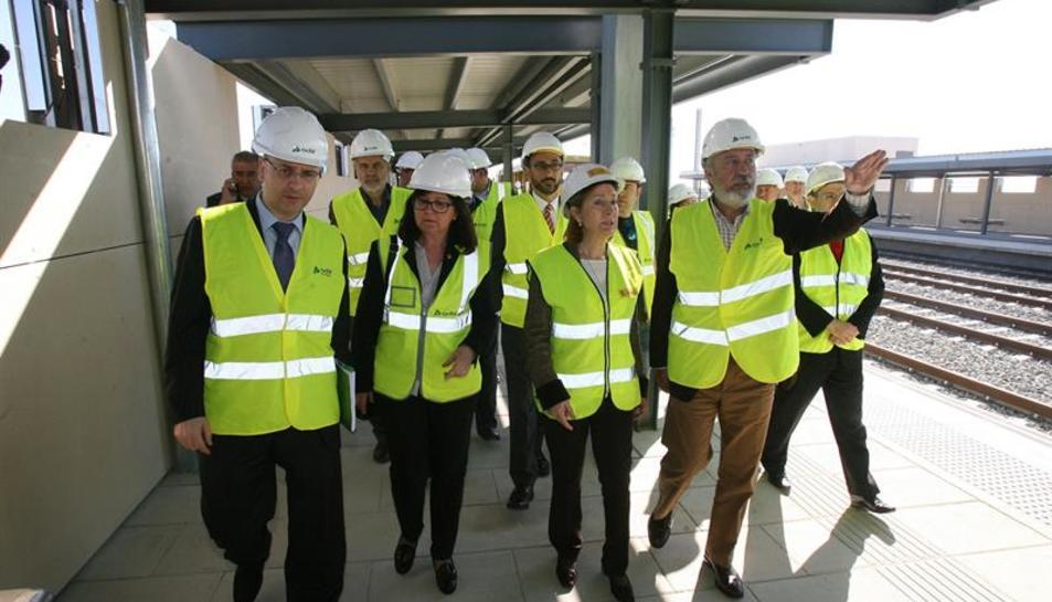 Visita de la ministra de Foment, Ana Pastor a les obres del Corredor del Mediterrani
