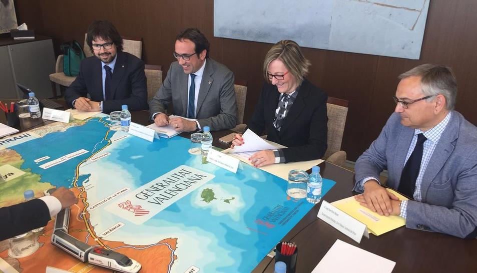 València i Catalunya acorden la defensa conjunta del Corredor del Mediterrani