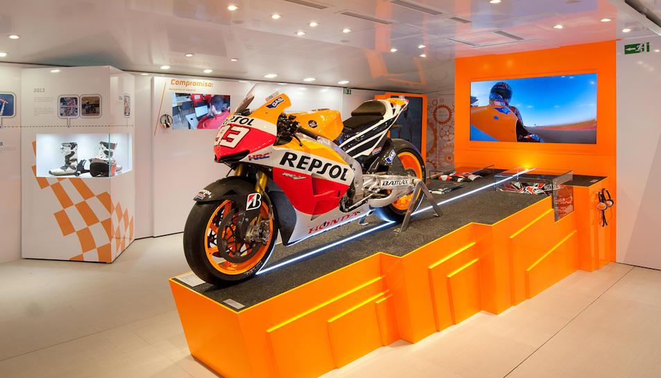 La moto de Màrquez arriba a Tarragona de la mà del Repsol Racing Tour