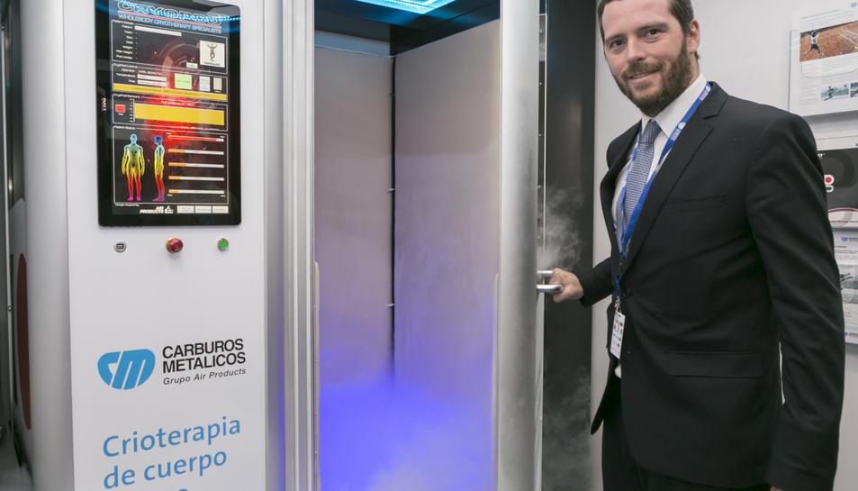 Carburos Metalicos presenta una càmara per a tractaments de crioteràpia de cos sencer