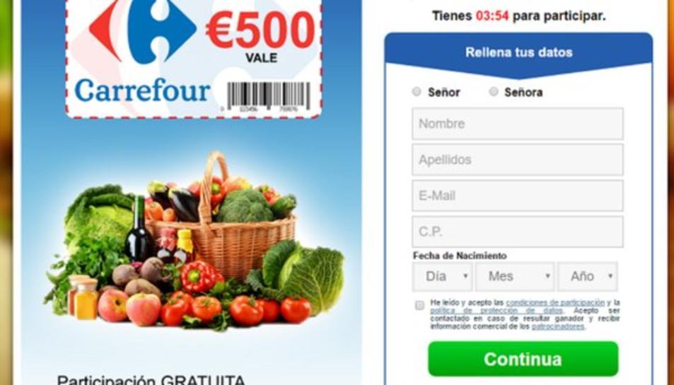 Nova estafa amb vals de descompte de 500€ pel Carrefour