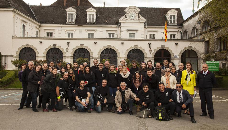 L'expedició, formada per membres de l'entitat, va visitar les instal·lacions de la Chartreuse.