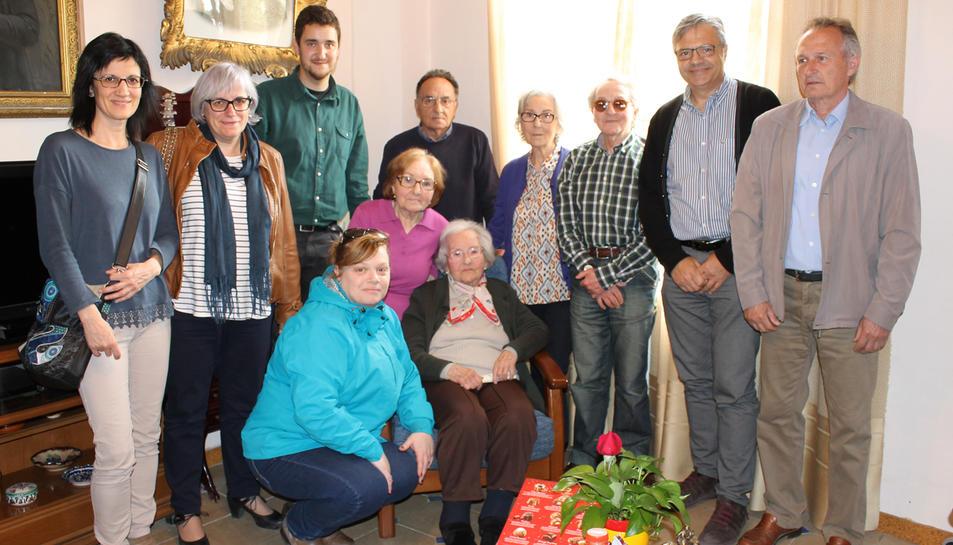 Homenatge a Francisca Pons, veïna centenària de Xerta