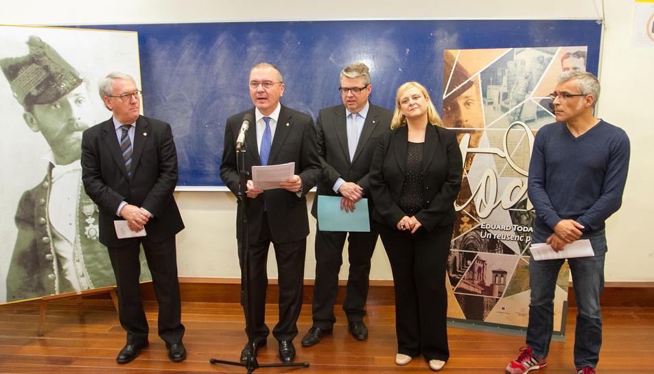 La presentació va tenir lloc a l'Institut Salvador Vilaseca, on Eduard Toda en va ser estudiant.