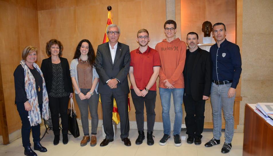 Recepció al consistori tarragoní dels millors estudiants de Batxillerat de Tarragona