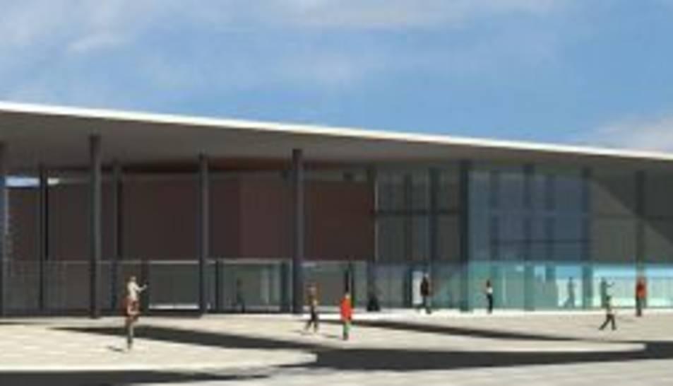Imatge virtual de la futura estació ferroviària que s'ha projectat de construir a Salou quan entri en funcionament el Corredor del Mediterrani