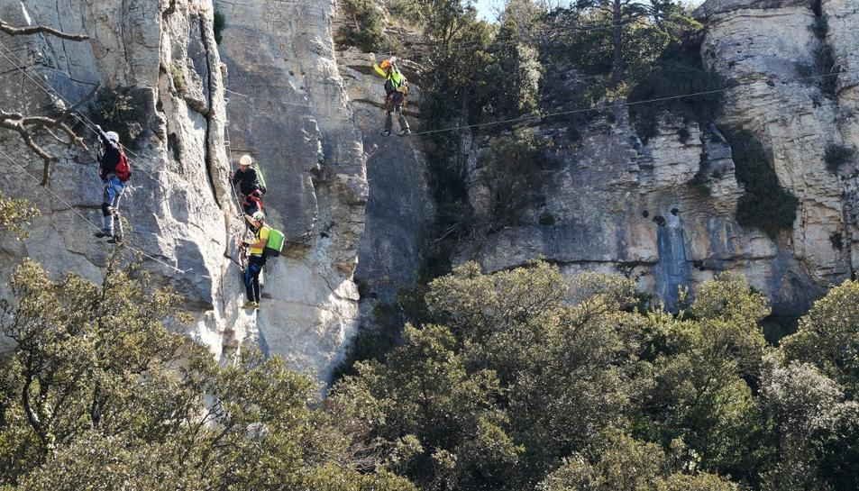 Les Muntanyes de Prades estrenen la via ferrada dels Patacons