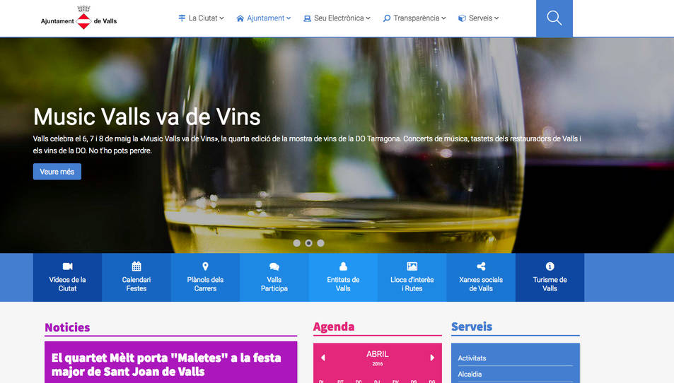 Valls renova el web municipal per ampliar-ne funcionalitats i continguts