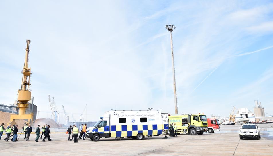 El Port de Tarragona presenta el nou centre de comandament avançat mòbil