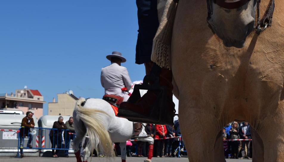 La doma de cavalls ha estat el punt d'atracció de tots els presents.