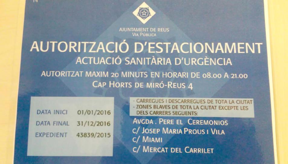 Els sindicats de sanitat reclamen targetes d'estacionament per les emergències