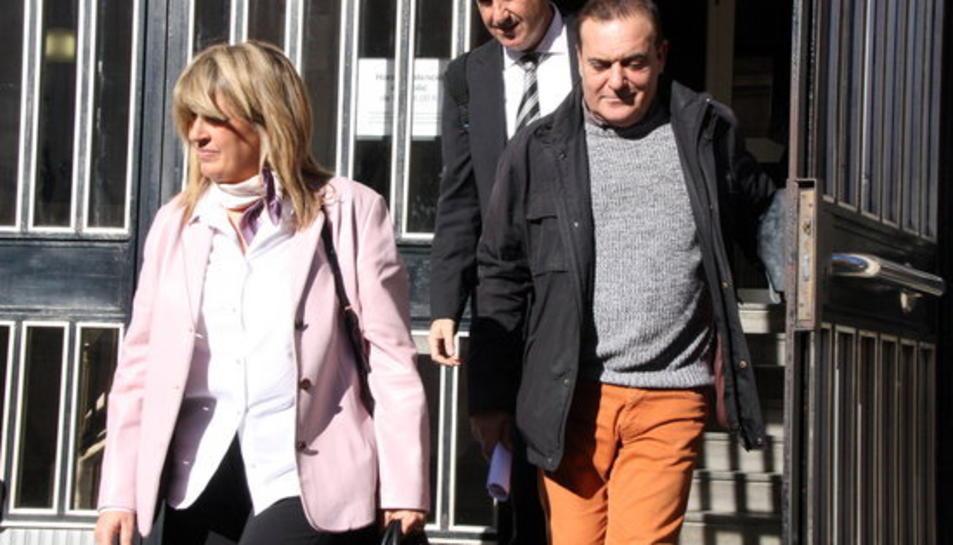 L'exgerent de l'Institut Municipal de Serveis Socials (IMSS) de Tarragona Antonio Muñoz sortint dels jutjats després de declarar com a investigat l'1 de febrer del 2016.