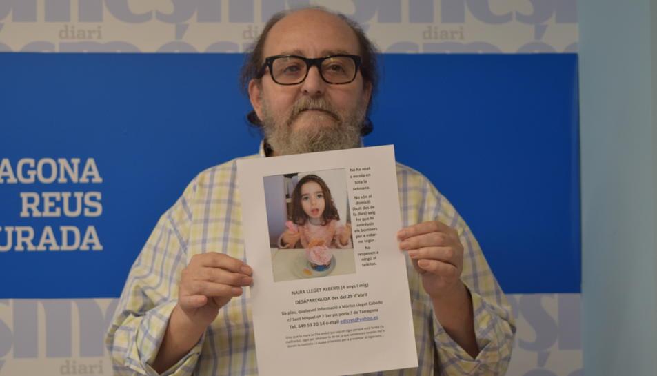 En Màrius Lleget demana que si algú té una pista d'on pot estar la seva filla truqui al 649532014.